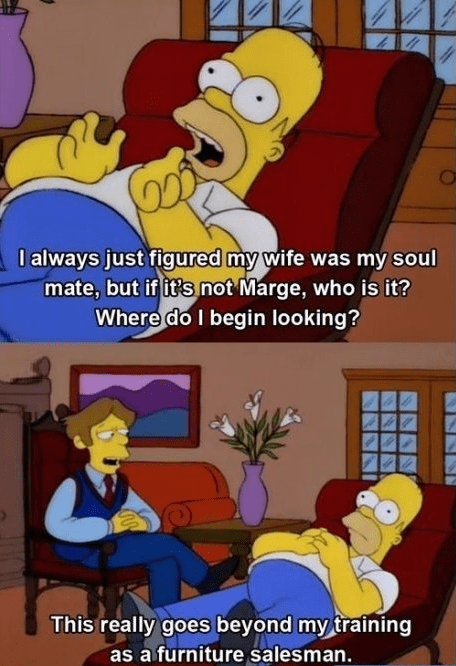 homer simpson soul mate the simpsons funny - 8262608896
