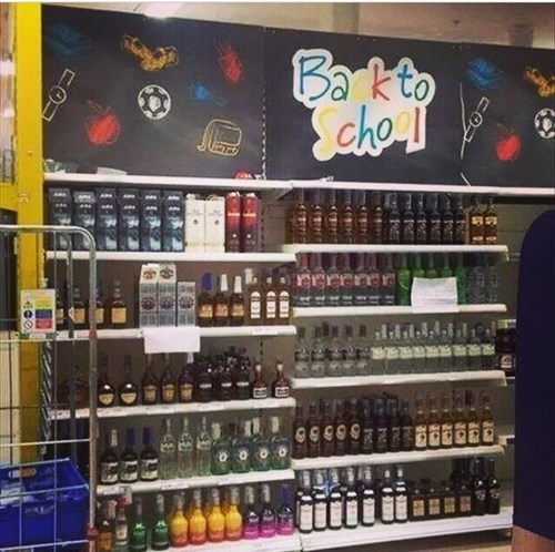 back to school booze funny summer - 8262655488