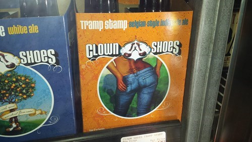 beer clown shoes funny wtf tramp stamps - 8262666240
