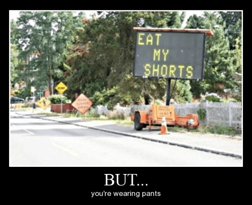 funny,the simpsons,shorts,sign