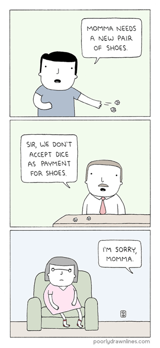 gambling puns shoes web comics - 8262911744