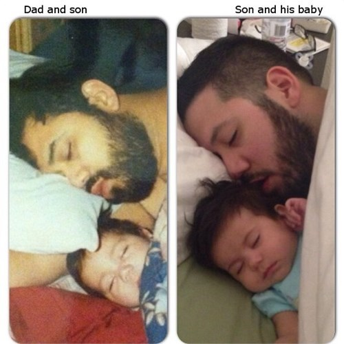 baby dad like father like son parenting - 8262934528