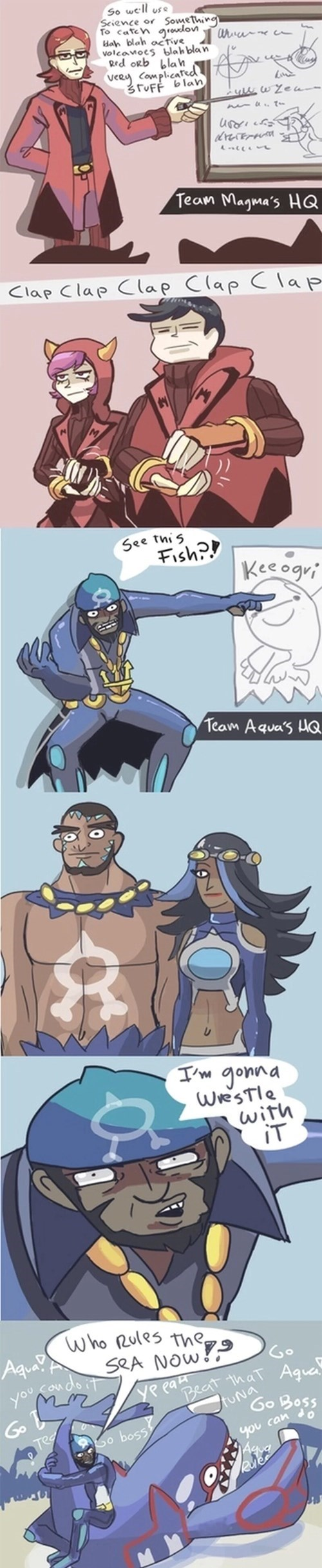 The Difference Between Team Magma and Team Aqua