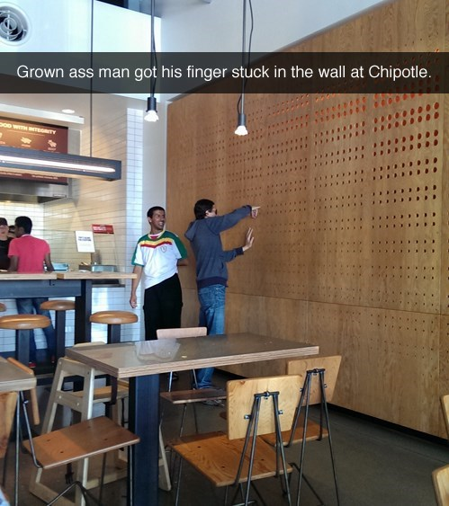 chipotle burrito stuck