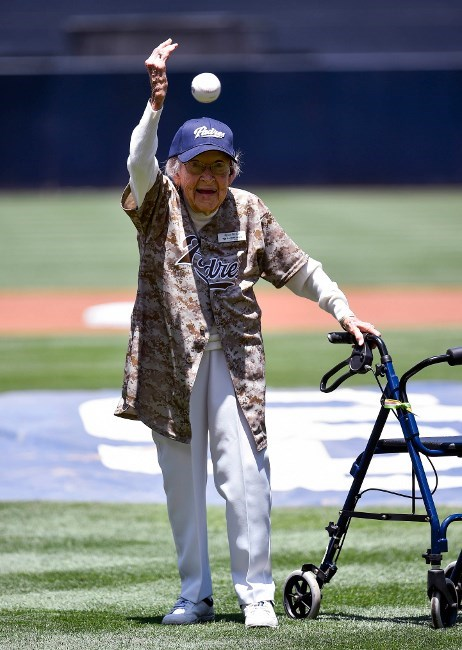 baseball first pitch old people rock sports - 8263275264