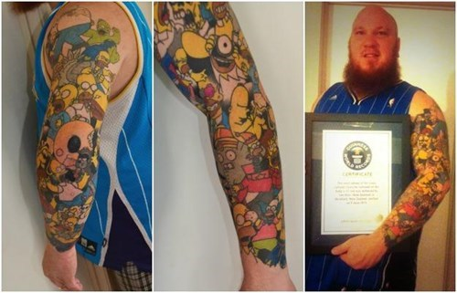 the simpsons tattoos world record g rated win