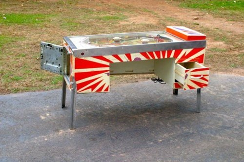 desk design pinball nerdgasm