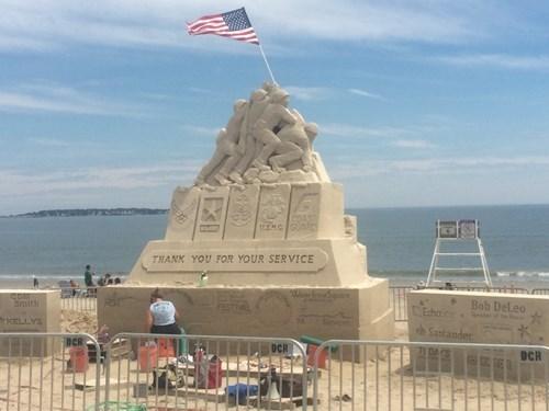 iwo jima soldiers sand sculpture - 8263418880