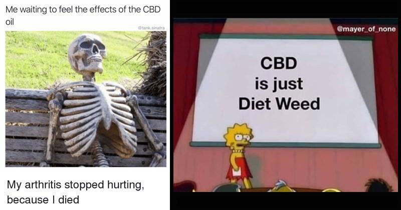 twitter marijuana essential oil funny memes twitter reactions kim kardashian kanye west cbd cannabinoid funny tweets weed meditation cringe - 8263429