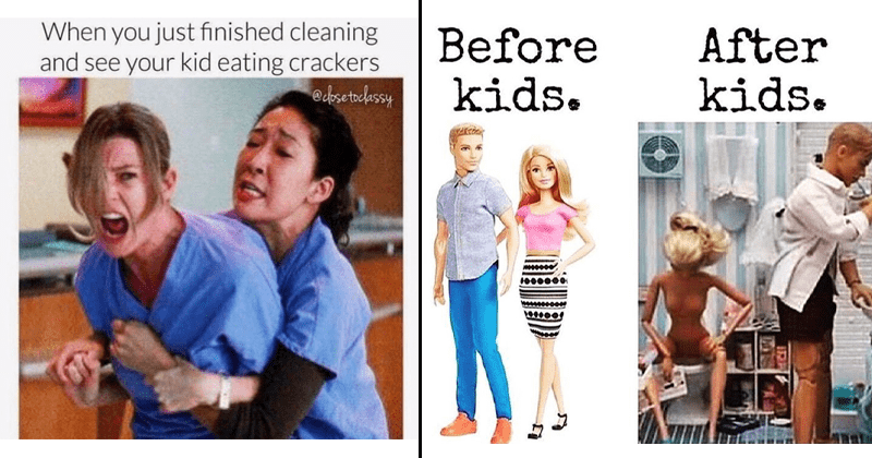 Funny and relatable parenting memes