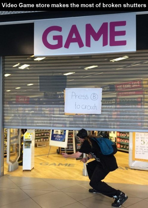 monday thru friday,video games,sign,retail
