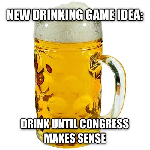 beer drinking games Congress after 12