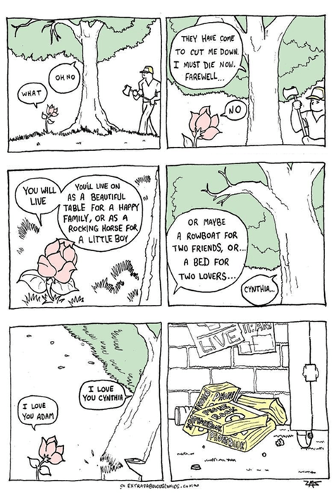 sad but true,trees,web comics,the indifference of nature