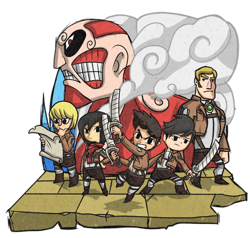 anime crossover legend of zelda video games attack on titan - 8264014592