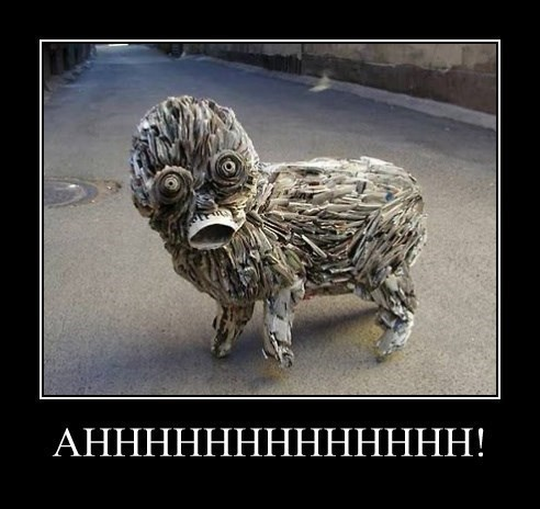 dogs sculpture scary wtf - 8264019456