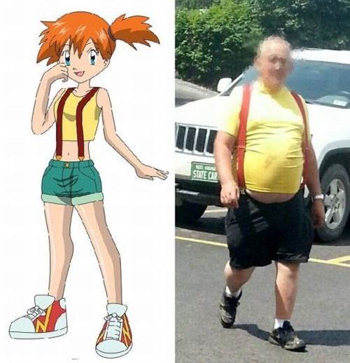 misty Pokémon poorly dressed suspenders g rated - 8264169984
