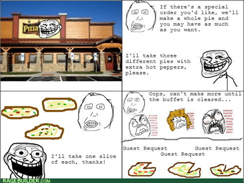 rage trollface buffet pizza - 8264368128