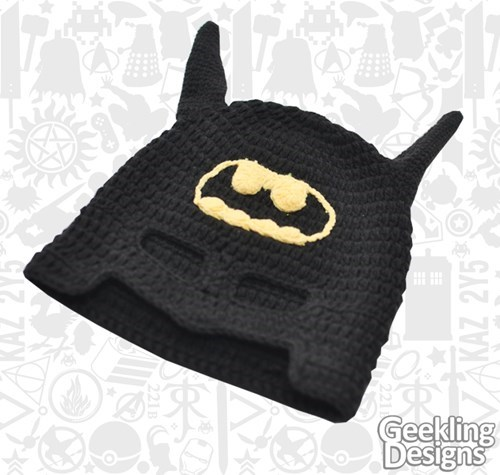 crochet,hats,batman