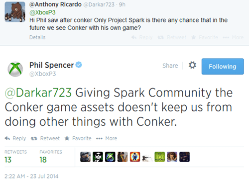 twitter conker project spark Video Game Coverage