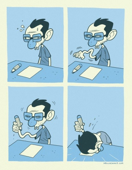 drawing tired pencils web comics - 8265054208