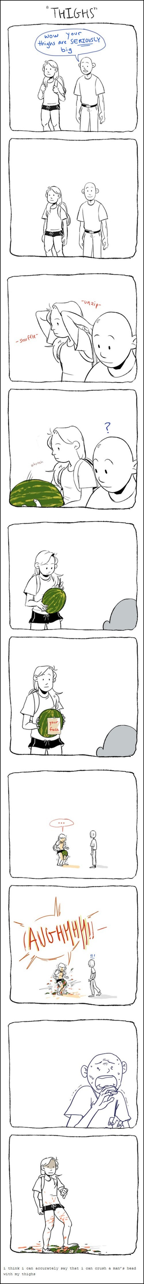 watermelon jerks thighs web comics - 8265059072