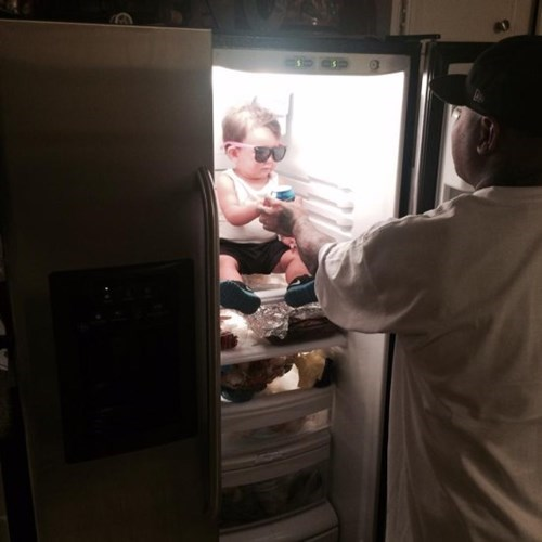 sunglasses,kids,chillin,parenting,refrigerator,dad,fridge