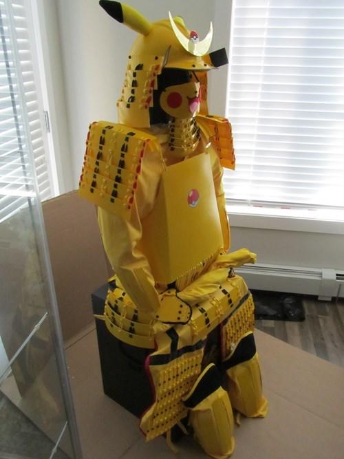 samurai,pikachu,armor