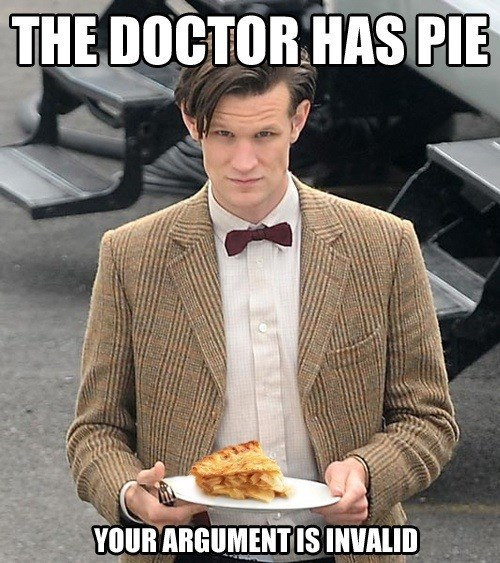 11th Doctor,pie,yummy
