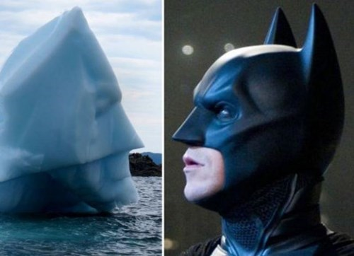 totally looks like,batman,iceberg