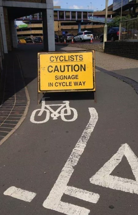 sign,duh,bike