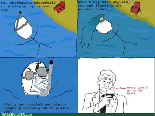 rage summer beach snorkeling
