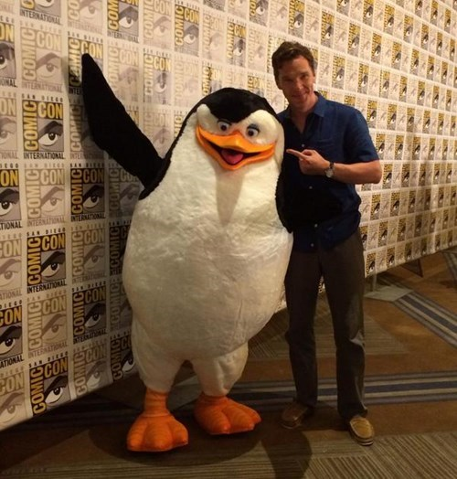 One Of the Cutest Things At Comic-Con... And a Madagascar Penguin