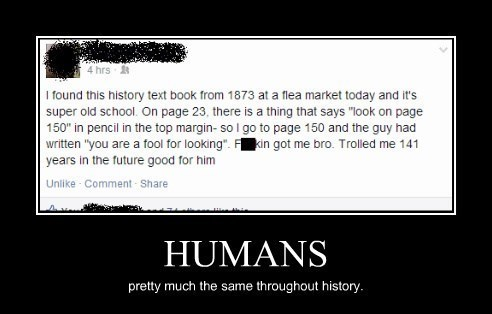 history trolling humans textbook funny - 8266228480