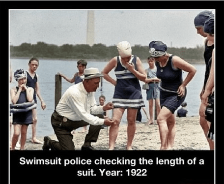 1922,swimsuit police,idiots,funny