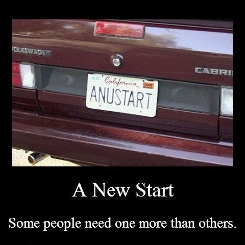 anus tart,arrested development,license plate,funny