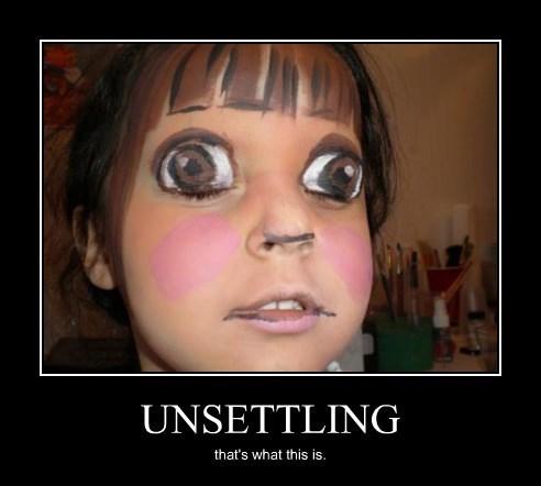 dora wtf creepy face paint - 8266231552
