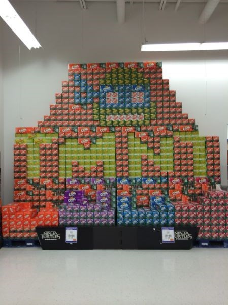 art grocery store display soda monday thru friday teenage mutant ninja turtles TMNT - 8266373120