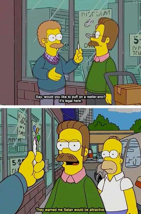 marijuana the simpsons ned flanders