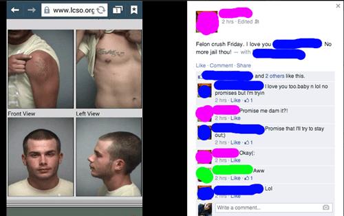 facebook felon crush friday - 8267305728