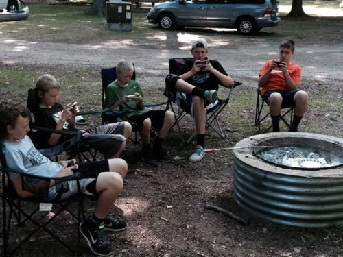 campfire kids kids these days parenting technology