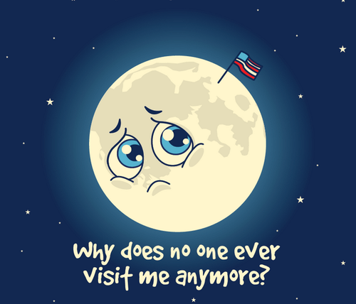 moon Rocket Science lonely funny - 8267543296