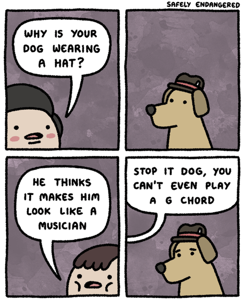 dogs hats Music web comics - 8267607296