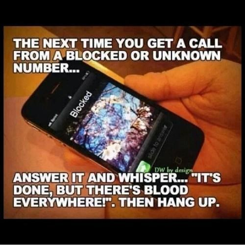 bad idea phone prank caller ID failbook - 8267664128
