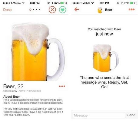 beer,tinder,online dating,funny