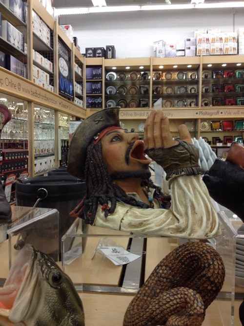 jack sparrow funny wine bottle holder