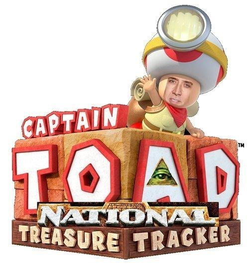 nicolas cage national treasure captain toad - 8268684800