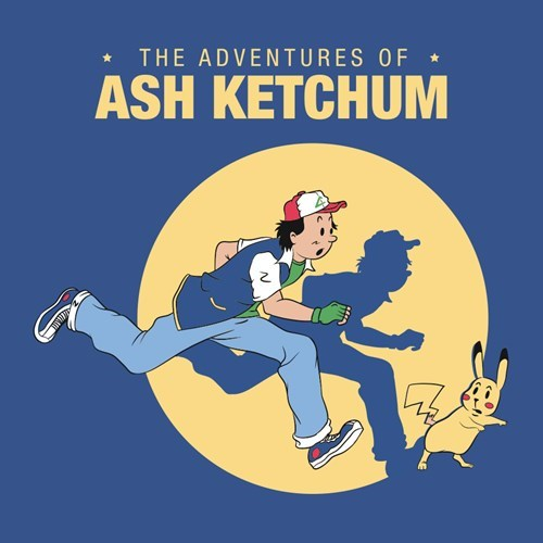 ash ketchum Fan Art Pokémon the adventures of tintin pikachu - 8268751616
