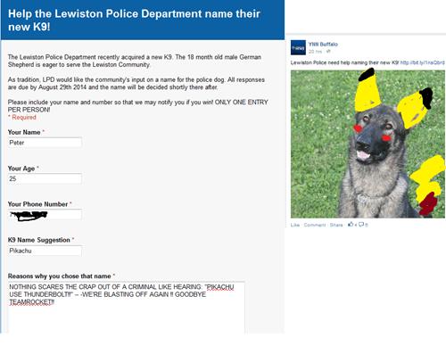 Name the new Police German Shepard