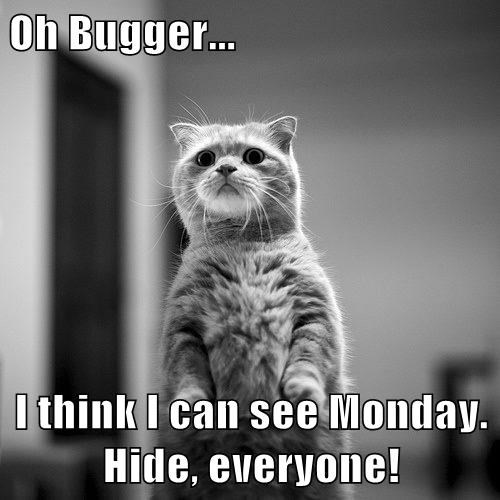 Oh Bugger... I think I can see Monday. Hide, everyone!