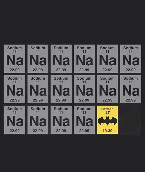 batman funny science sodium - 8269827072